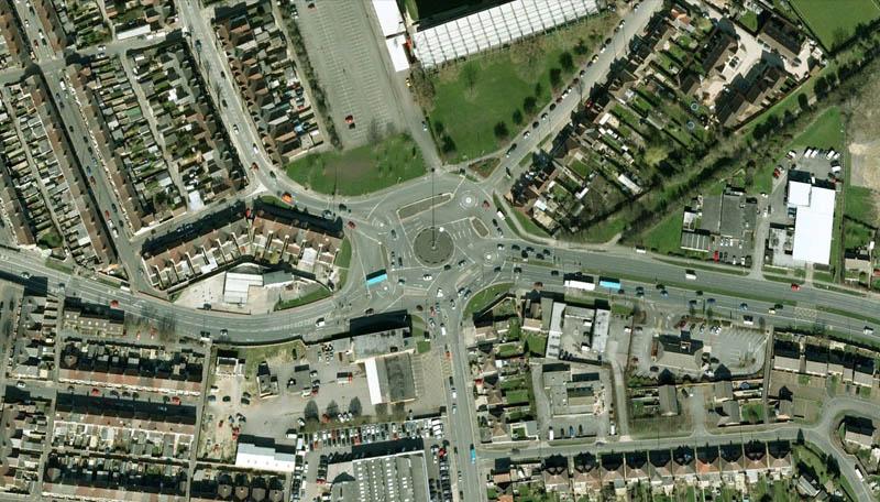 magic roundabout intersection swindon england 3 Picture of the Day: The Magic Roundabout in Swindon, England