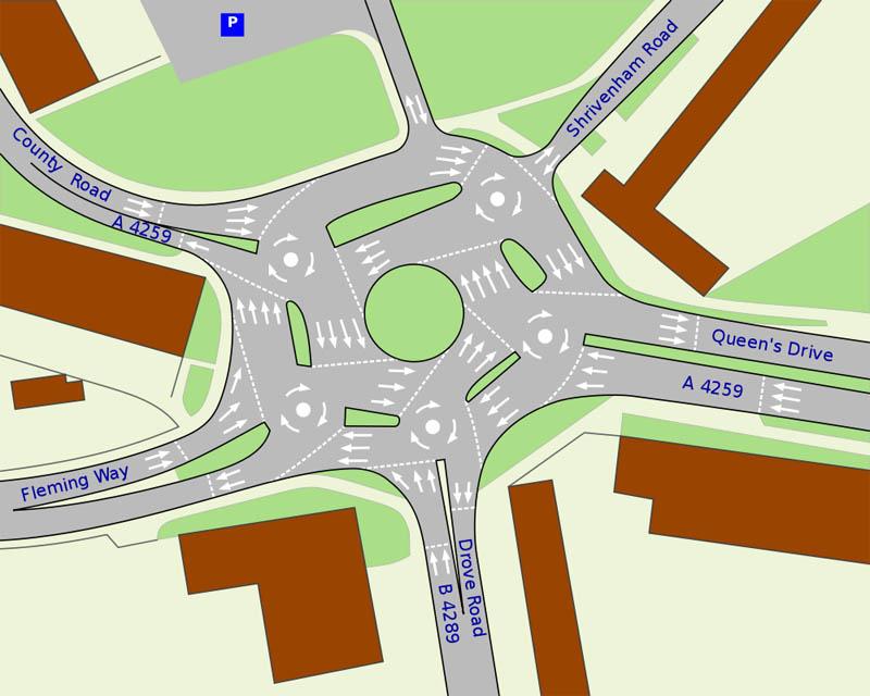 magic roundabout intersection swindon england 4 Picture of the Day: The Magic Roundabout in Swindon, England