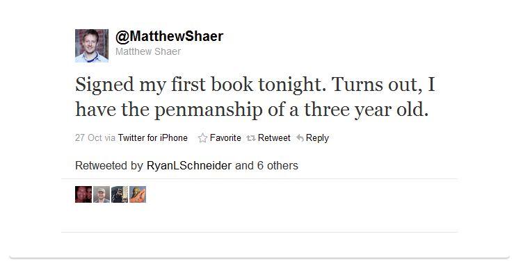 matthew shaer humblebrag 50 Hilarious Humble Brags on Twitter