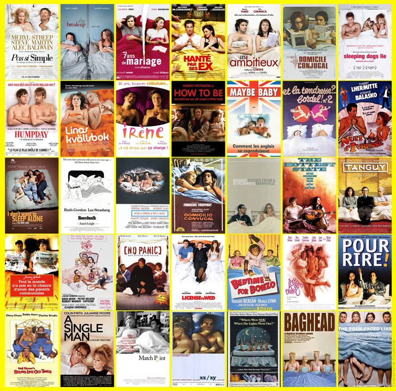 movie poster cliches themes styles back to back viewed from side 41 10 Funny Movie Poster Cliches