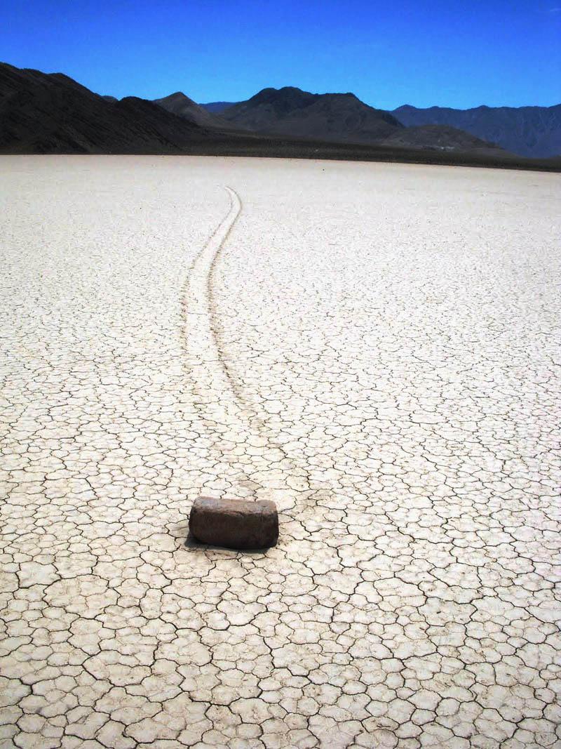 mysterious roving rocks of racetrack playa Picture of the Day: Mysterious Roving Rocks of Racetrack Playa