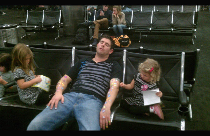 passed out in airport covered in stickers  The Shirk Report   Volume 137
