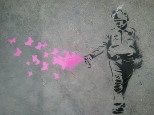 pepper spray cop banksy Pepper Spray All the Things: 35 Funniest Photoshops