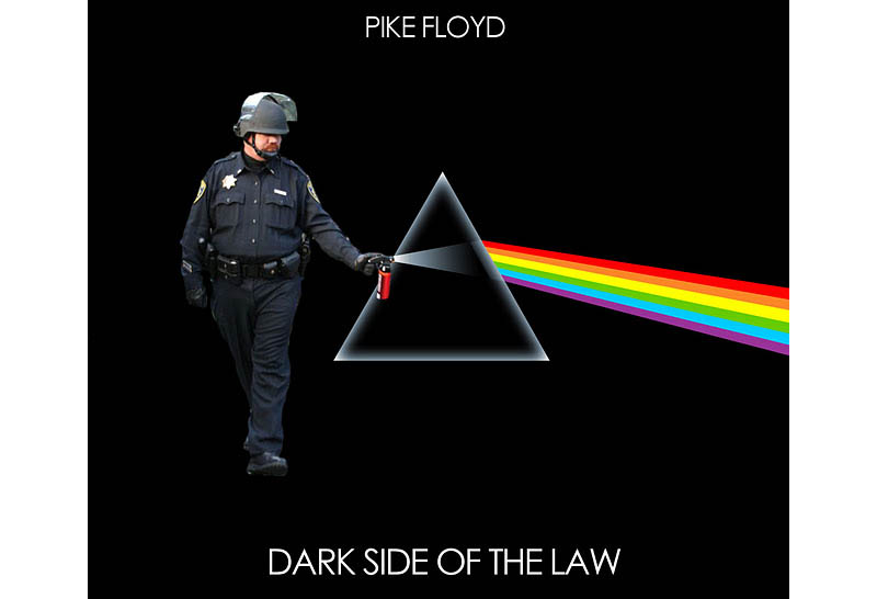 pepper spray cop dark side of the moon pink floyd album cover Pepper Spray All the Things: 35 Funniest Photoshops