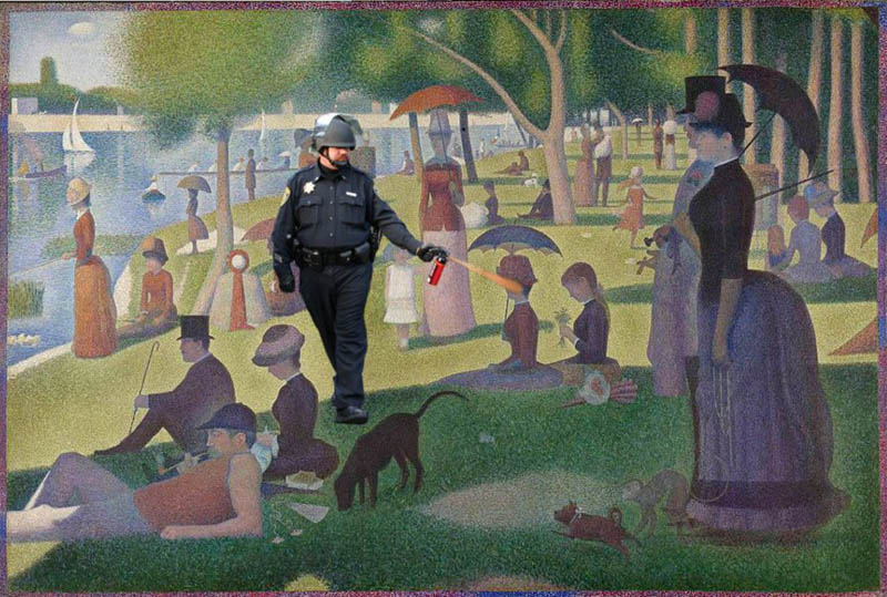 pepper spray cop midsummer day Pepper Spray All the Things: 35 Funniest Photoshops