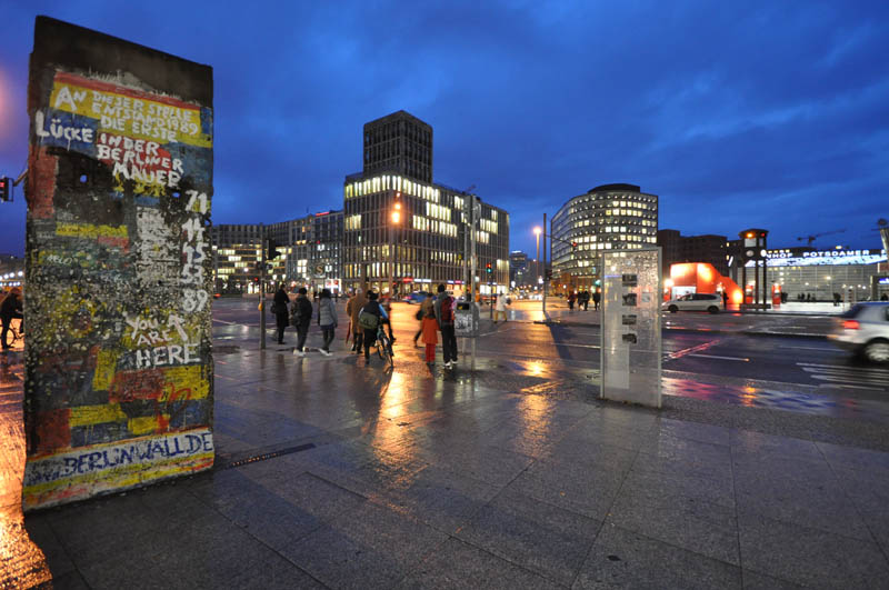 remains of berlin wall at potsdamer platz march 2009 This Day In History   November 9th
