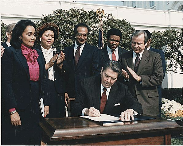 ronald reagan martin luther king day signing This Day In History   November 2nd