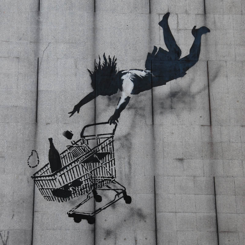 shop til you drop banksy Picture of the Day: Shop Til You Drop by Banksy