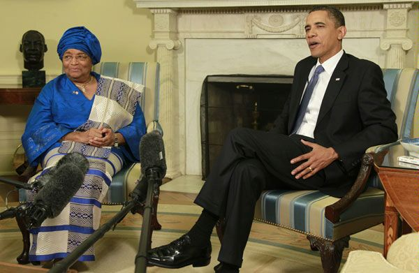 sirleaf and obama This Day In History   November 23rd