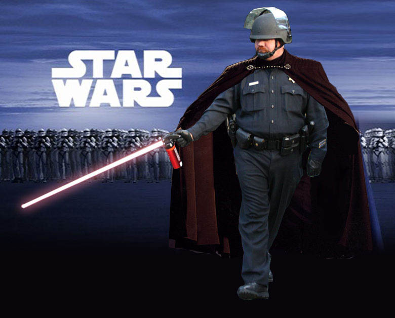 star wars pepper spray cop Pepper Spray All the Things: 35 Funniest Photoshops