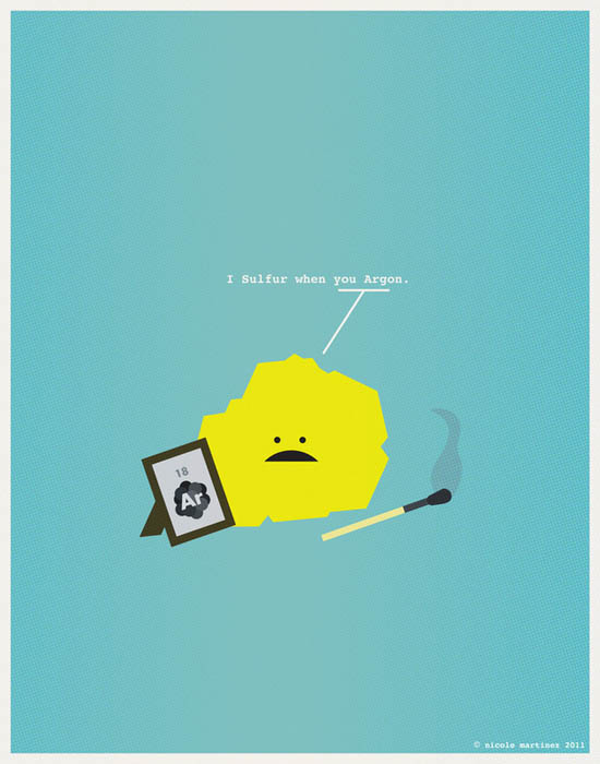 sulfur when you argon nerdy love poster 12 Nerdy Professions of Love