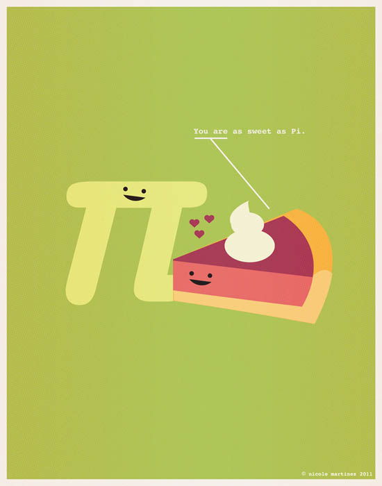 sweet as pi nerdy love poster 12 Nerdy Professions of Love