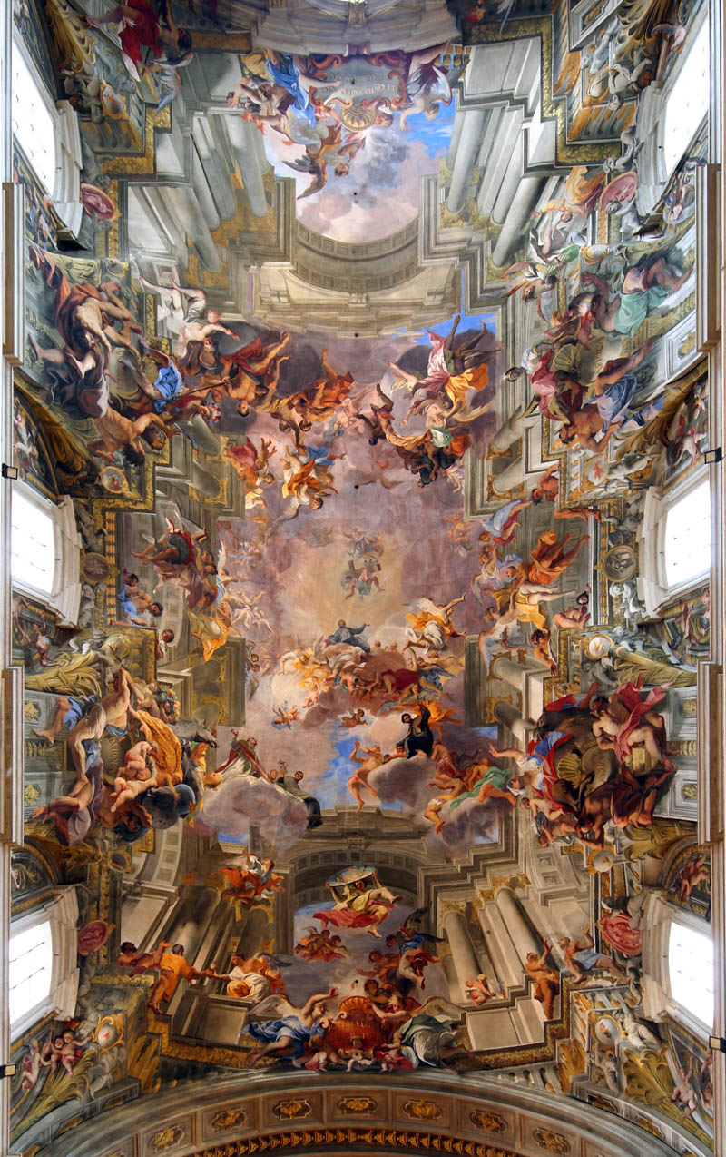 andrea pozzo painted ceiling church of st ignazio Picture of the Day: Jaw Dropping 3D Fresco by Andrea Pozzo