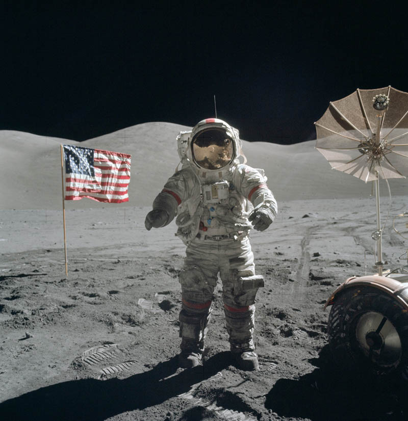 apollo 17 cernan on moon This Day In History   December 14th