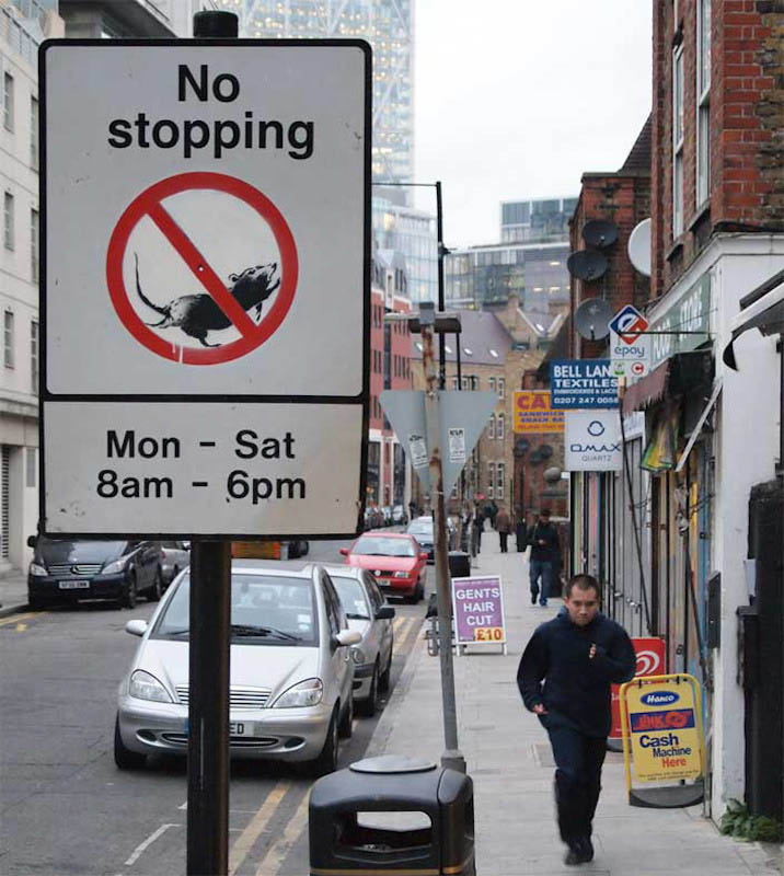 banksy no stopping Banksy Goes on a Holiday Tear [9 pics]