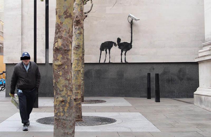 banksy ostrich cctv Banksy Goes on a Holiday Tear [9 pics]