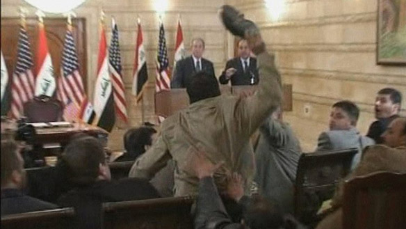 bush shoeing show throw incident iraq This Day In History   December 14th