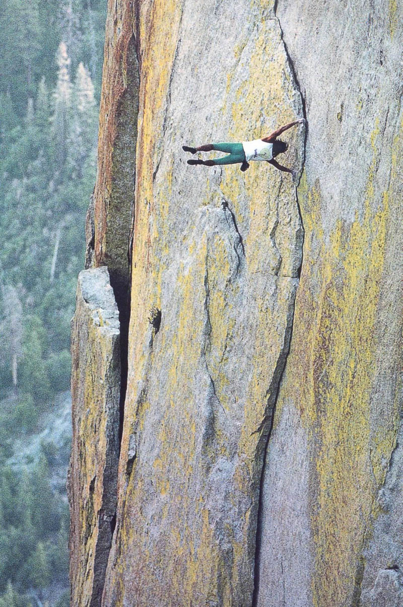 dan osman perpindicular to wall like a flag pole Picture of the Day: Just Hanging Out