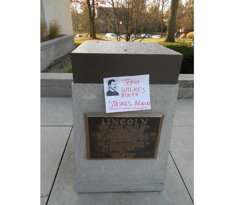 john wilkes booth strikes again funny sign The Shirk Report   Volume 139