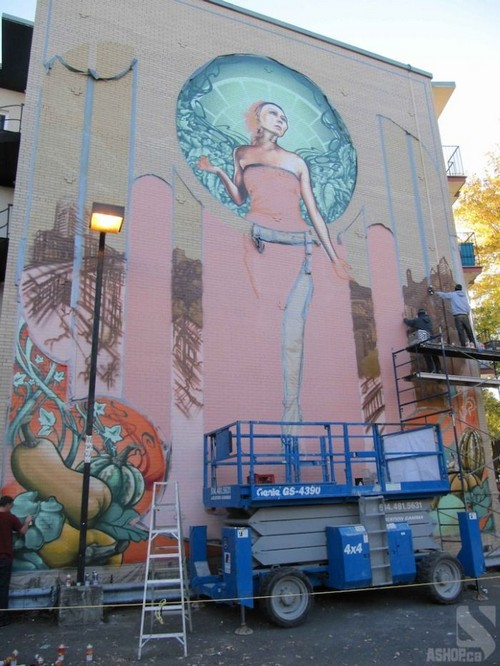 lady of grace mural montreal ashop fluke 6 Amazing Lady of Grace Mural in Montreal, Canada