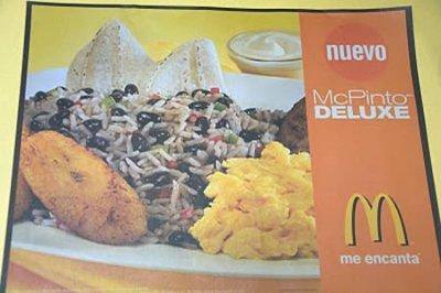 mcdonalds mcpinto costa rica 29 Exotic McDonalds Dishes Around the World