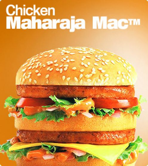 mcmaharaja mcdonalds 29 Exotic McDonalds Dishes Around the World