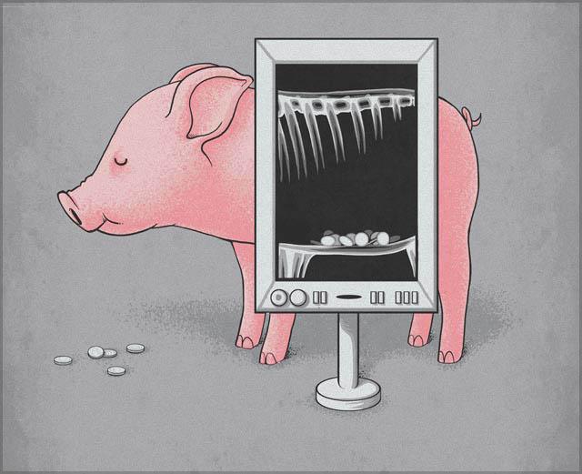 nacho diaz illustrations 13 saving money 25 Fun Illustrations by Nacho Diaz
