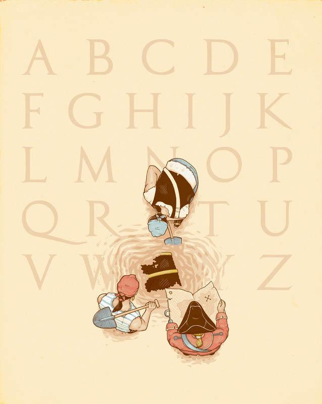 nacho diaz illustrations 15 x marks the spot 25 Fun Illustrations by Nacho Diaz