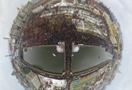 Picture of the Day: Polar Panorama of Protests in Moscow, Russia