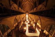 Picture of the Day: Long Exposure Candle Trails at Salisbury Cathedral