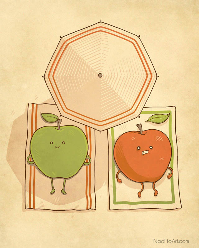 sunburnt by naolito d4b5oot 25 Fun Illustrations by Nacho Diaz