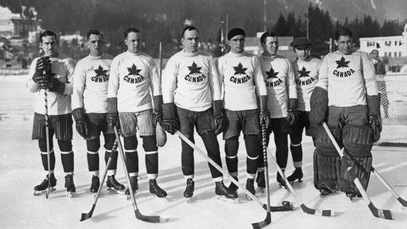 1924 winter olympics team canada hockey first gold medal This Day In History   January 25th