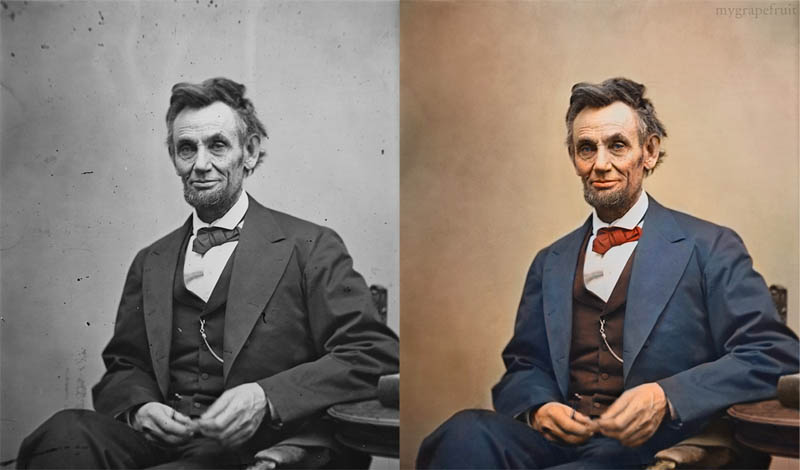 abraham lincoln portrait colorized 15 Famous Photos in History Colorized