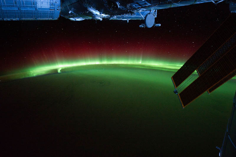 aurora australis over indian ocean from space nasa Earth at Night: 30 Photos from Space