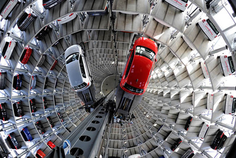 austadt vw car tower germany 2 The Worlds Strongest Artificially Generated Tornado