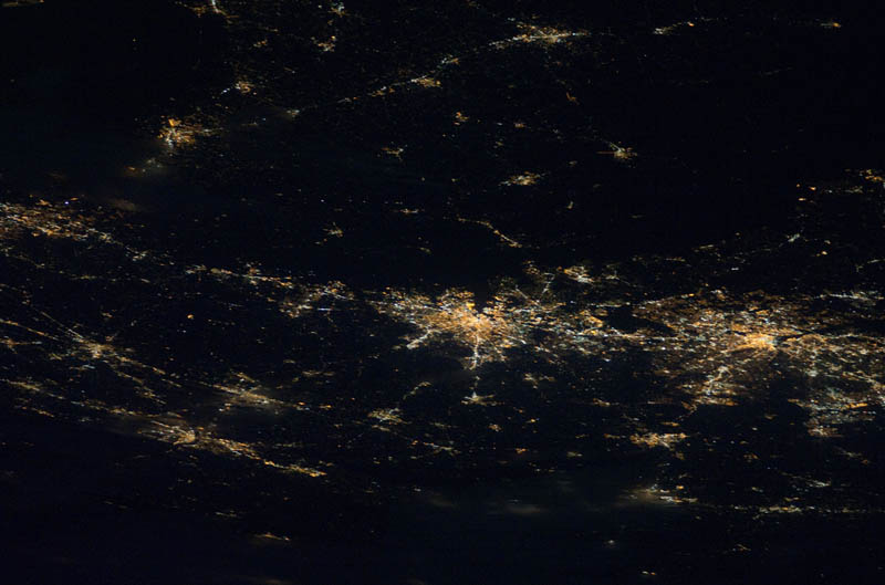 baltimore washington d c area at night from space nasa Earth at Night: 30 Photos from Space