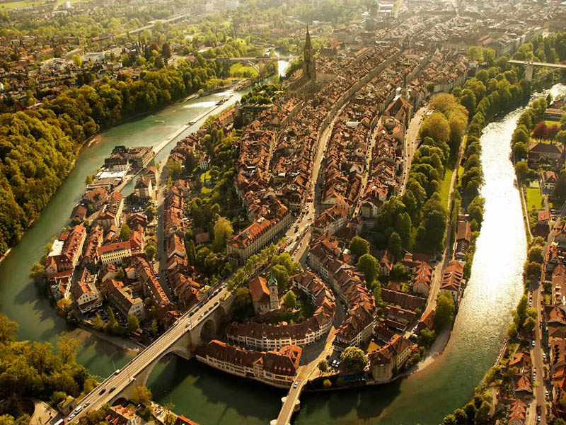 bern switzerland aerial from above The Top 100 Pictures of the Day for 2012