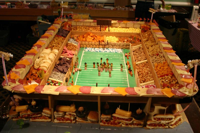 biggest snack stadium 1 12 Artful Displays of Vegetables
