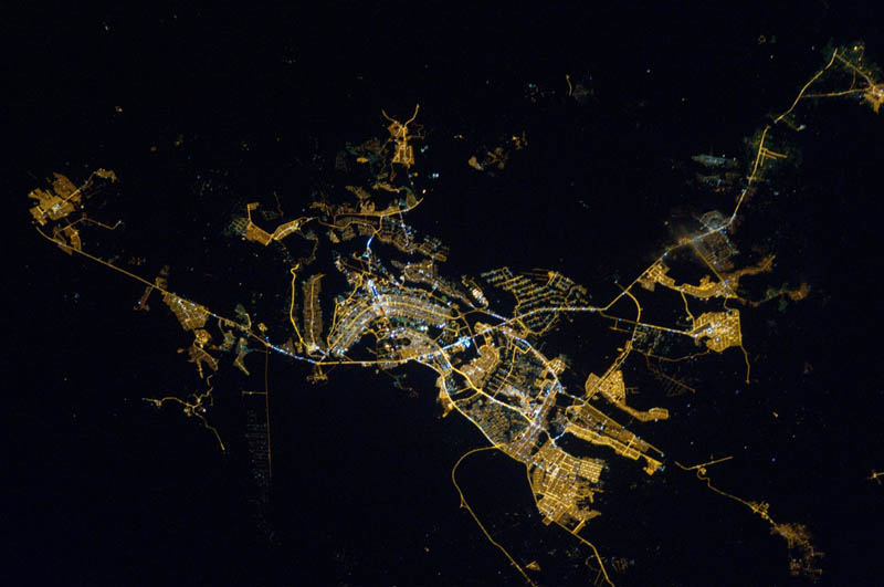 brasilia brazil at night from space nasa Earth at Night: 30 Photos from Space