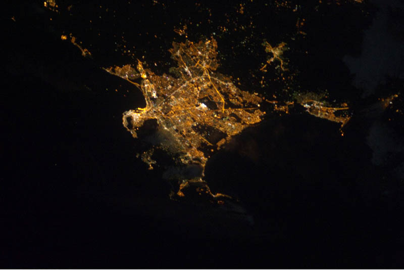 capetown south africa at night from space nasa Earth at Night: 30 Photos from Space
