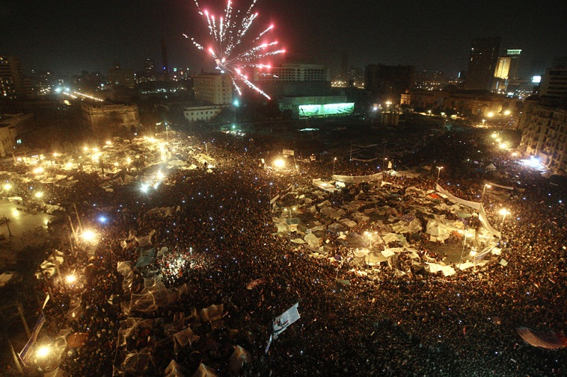 celebration fireworks tahrir square This Day In History   January 25th