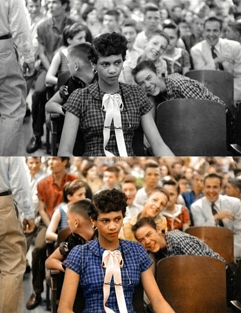 dorothy counts colorized 15 Famous Photos in History Colorized
