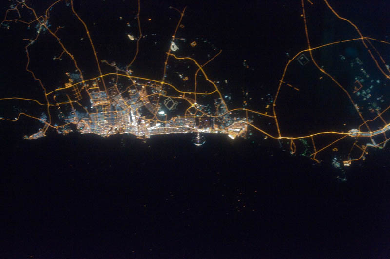 dubai uae at night from space nasa Earth at Night: 30 Photos from Space