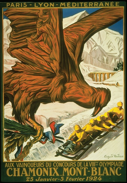 first winter olympics poster 1924 chamonix france This Day In History   January 25th