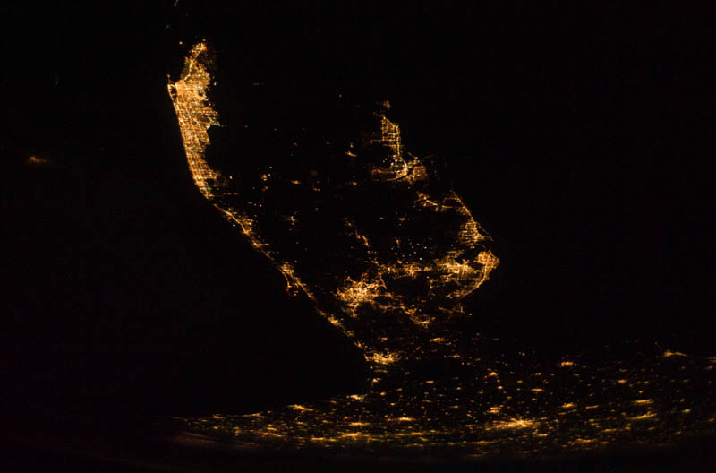 florida peninsula at night from space nasa Earth at Night: 30 Photos from Space