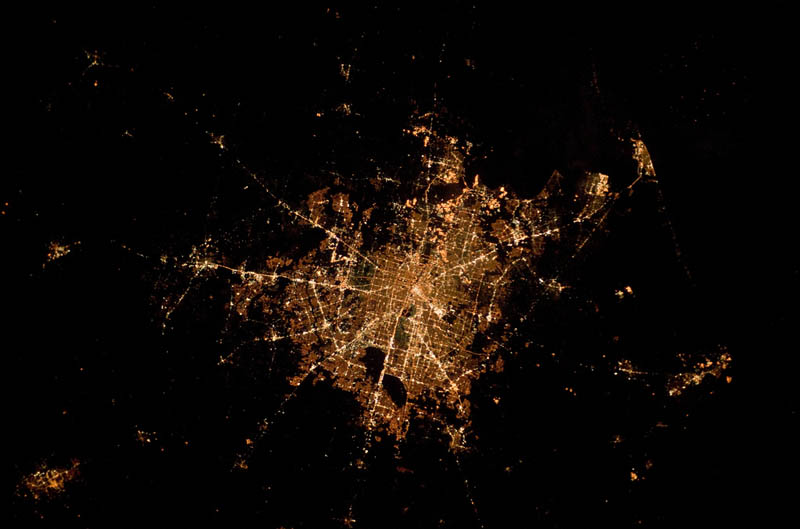 houston texas at night from space nasa Earth at Night: 30 Photos from Space