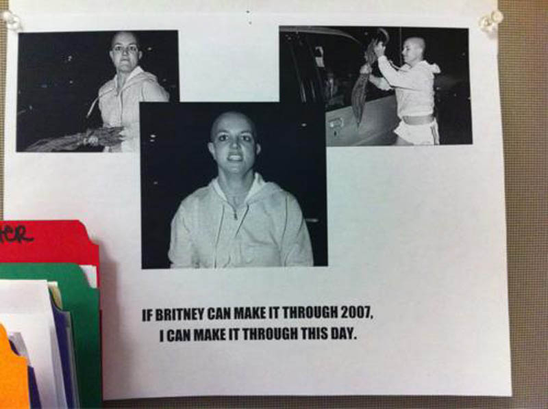 if britney can make it through 2007 i can make it through this day motivational poster The Shirk Report   Volume 143