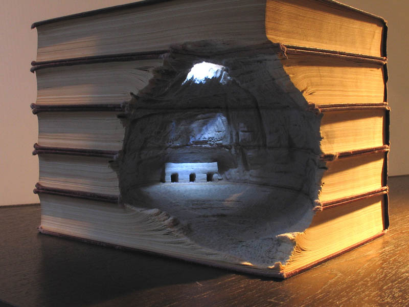 landscapes carved into books guy laramee 3 The Colossal Land Art of Jim Denevan [30 pics]