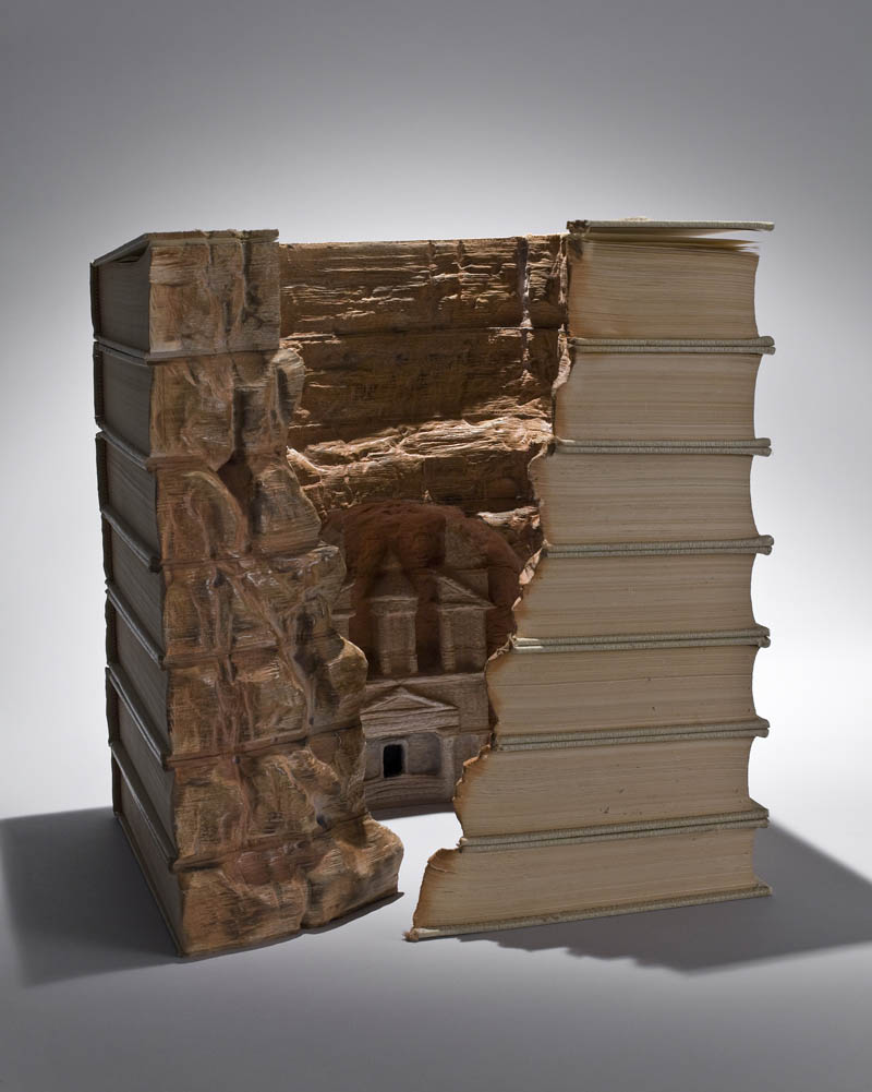 landscapes carved into books guy laramee 4 Incredible Landscapes Carved Into Books