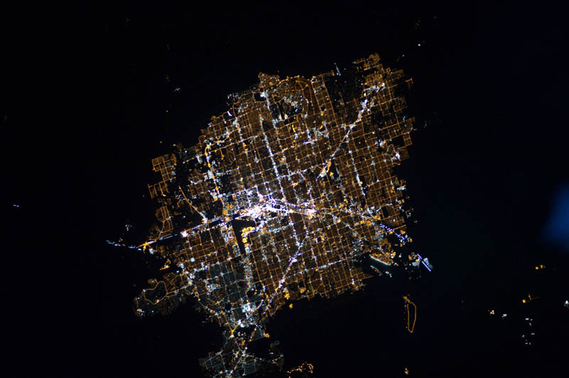 las vegas nevada at night from space Earth at Night: 30 Photos from Space